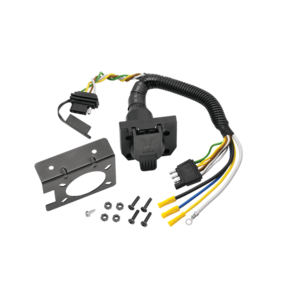 20144 by CEQUENT ELECTRICAL - Tow Ready -  7-Way Flat Pin Connector/4-Flat Combo Adapter Harness w/Mounting Bracket & Hardware