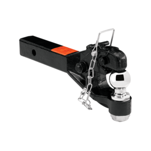 """63041 by CEQUENT ELECTRICAL - Draw-Tite -  Receiver Mount Pintle Hook w/2"""" Ball, 2"""" Sq. Solid Shank (Inc. Grade 8 Hardware) Hook Rating 12,000 lbs. (GTW), Ball Rating 7,000 lbs. (GTW), 2,400 lbs. (VL), Black"""
