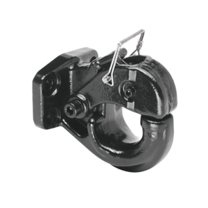63015 by CEQUENT ELECTRICAL - Draw-Tite -  15 Ton Regular Pintle Hook (Inc. Grade 8 Hardware) Rating 30,000 lbs. (GTW), 6,000 lbs. (VL), Black