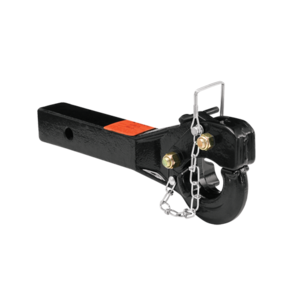 """63043 by CEQUENT ELECTRICAL - Draw-Tite -  5 Ton Receiver Mount Pintle Hook, 2"""" Sq. Solid Shank, Rating 10,000 lbs. (GTW), 2,000 lbs. (VL), Black"""