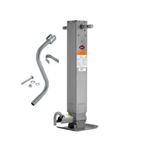 """1400950376 by CEQUENT ELECTRICAL - Pro Series -  Pro Series™ Weld-On Jack Square Tube, 12,000 lbs., Sidewind, 12-1/2"""" Travel, Adjustable Dropleg w/Spring Return & Additional Travel of 13-1/2"""", Crank Handle Included"""