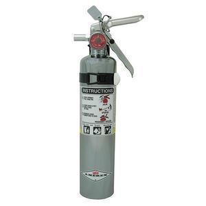 417TCAX by AMEREX CORP - Amerex® 2.5 lb ABC Chrome Extinguisher w/ Vehicle/Marine Bracket
