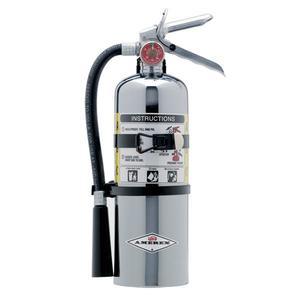 500TCAX by AMEREX CORP - Amerex® 5 lb ABC Chrome Extinguisher w/ Vehicle/Marine Bracket