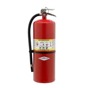 589AX by AMEREX CORP - Amerex® 30 lb ABC Compliance Flow Extinguisher w/ Brass Valve & Wall Hook