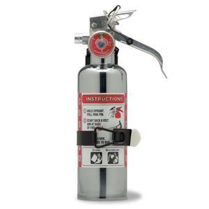 620TCAX by AMEREX CORP - Amerex® 1 lb BC Chrome Extinguisher w/ Aluminum Valve & Vehicle Bracket