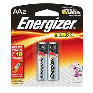 E91BP2EN by ENERGIZER - Energizer® Max® Alkaline AA Batteries, 2/Pkg