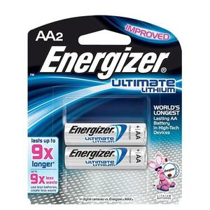 L91BP2EN by ENERGIZER - Energizer® Ultimate Lithium® AA Batteries, 2/Pkg