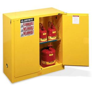 """896020JR by JUSTRITE - Justrite® Sure-Grip® EX Safety Cabinets w/ Self-Closing Doors, 60 gal, 65""""H x 34""""W x 34""""D"""
