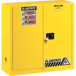 """899000JR by JUSTRITE - Justrite® Sure-Grip® EX Safety Cabinet w/ Manual Doors, 90 gal, 65""""H x 43""""W x 34""""D"""