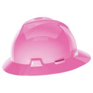 454733MSA by MSA - MSA V-Gard® Slotted Hat w/ Staz-On® Suspension, White