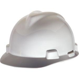 463947MSA by MSA - MSA V-Gard® Standard Slotted Cap w/ Staz-On® Suspension, Red