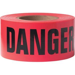 "B3103R21PR by PRESCO - Presco Barricade Tape, 3 mil, ""Danger"", Red, 8/Case"