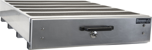 1718010 by BUYERS PRODUCTS - Aluminum Silver Slide Out Truck Bed Box 9 x 48 x 20 in.
