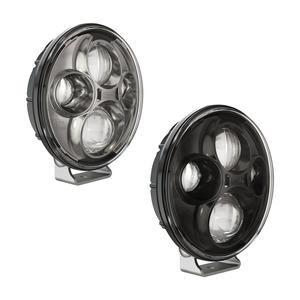 0551603 by J.W. SPEAKER - 12-24V ECE LED High Beam with Chrome Inner Bezel & Pedestal Mount - 2 Light Kit