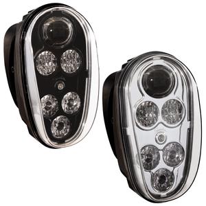 548901 by J.W. SPEAKER - 12-48V ECE LED Material Handling Headlight with Black Inner Bezel