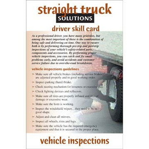 6817 by JJ KELLER - Straight Truck Solutions - Vehicle Inspections - Skill Cards - Vehicle Inspections - Skill Cards