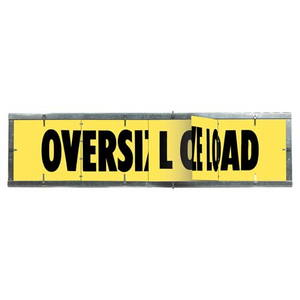 18818 by JJ KELLER - Metal Wide Load/Oversize Load Flip-File Sign - 7' x 18""