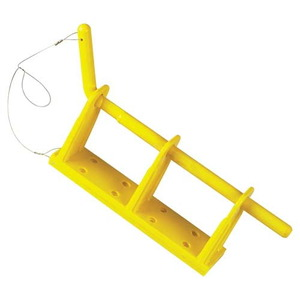 27847 by JJ KELLER - Yellow Rack™ Wall Mount 2-Bay Storage Device - Yellow