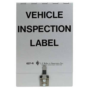 "3669 by JJ KELLER - Vehicle Inspection Holder - Aluminum finish, 6-1/2"" x 9-1/2"""