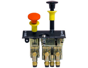K80F by BUYERS PRODUCTS - Dual Lever Feathering Non-Disengage Non-Return PTO/Pump Air Control Valve