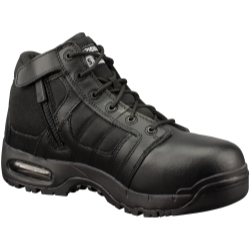 """1261-BLK-7.0 by THE ORIGINAL SWAT FOOTWEAR CO - AIr 5"""" CST (Safety Toe) Side Zip, Black Shoe, Size 7.0"""