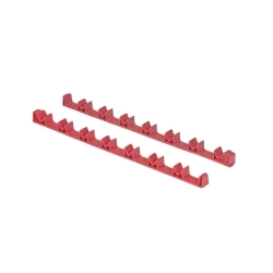 6040 by ERNEST - 14 Tool No-Slip Low Profile Screwdriver Rails, Red