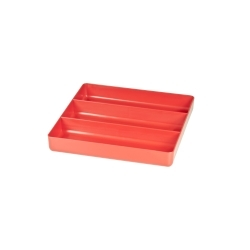 5020 by ERNEST - 3 Compartment Organizer Tray - Red
