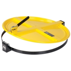 DRM659-YW by NEW PIG CORPORATION - PIG® Latching Drum Lid for 55 Gallon Drum - Yellow