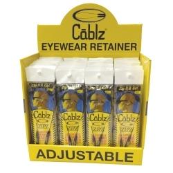 CBLZDISP40 by CABLZ - 40 Piece Prepacked Cablz® Zipz Eyewear Retainers Display
