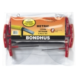 13348 by BONDHUS CORP. - 6-Piece Graduated Hex T-Handle Wrench Set