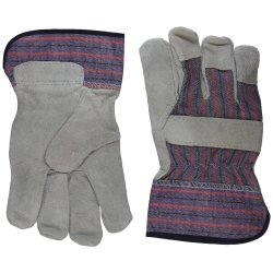 WA4215A by PROTECTIVE INDUSTRIAL - Leather palm, split cowhide economy striped, patch palm,SC gloves