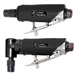 """750K by FLORIDA PNEUMATIC MFG - Air Die Grinder Kit, 1/4"""" Collets, 22,000 RPM, with Mini Angle Grinder, Straight Grinder and Stones"""