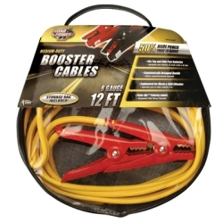 08467 by COLEMAN CABLE PRODUCTS - Medium Duty Battery Booster Cables, 12 Foot, 8 Gauge, with 400 Amp Clamps
