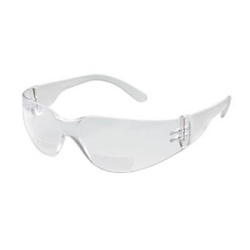 46MC20 by GATEWAY SAFETY - Safety Glasses, StarLite Mag, Clear Wraparound Bi-Focal Lens, 2.0 Magnification, Clear Frame