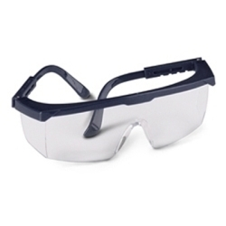49GB80 by GATEWAY SAFETY - Safety Glasses, Strobe, Clear Lens, Black Frame, Adjustable Temples, Molded-In Sideshields