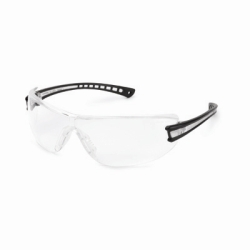 19GB79 by GATEWAY SAFETY - Safety Glasses, Luminary, Wraparound Clear Anti-Fog Lens, Black Temple, Lightweight