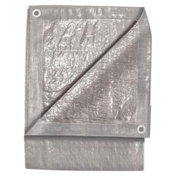 6300 by MICHIGAN IND TOOLS - Standard Duty Silver Tarp, 9' x 12', Two Layer Polyethylene, Reinforced Hem Edge, Aluminum Grommets