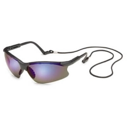 16GB0M by GATEWAY SAFETY - Safety Glasses, Scorpion, Clear Mirror Lens, Black Frame, Adjustable Length Temples, Retainer