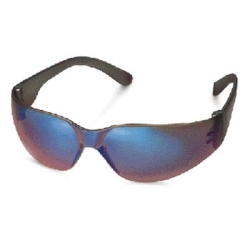 466M by GATEWAY SAFETY - Safety Glasses, StarLite, Mocha Mirror Wraparound Lens, Gray Frame, Deep Temple, Snug Comfortable