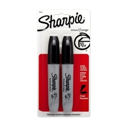 38262PP by SHARPIE - 2 Count Black Chisel Tip Permanent Marker