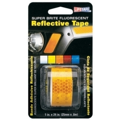 "RE184 by INCOM MFG - Fluorescent Reflective Tape, Super Brite Yellow, 1"" x 24"" Roll, Provides Long Distance Visibilty"