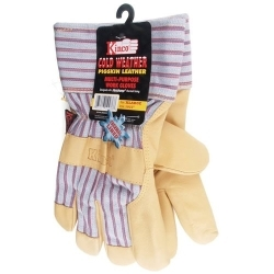 1927L by KINCO INTERNATIONAL - Work Gloves, Grain Pigskin Palm, Material Back and Cuff, Heatkeep Insulated Lining, Large