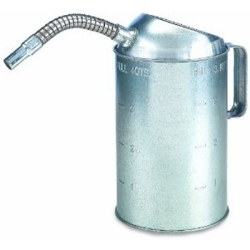 LX-1528 by AIRGAS SAFETY - Oil Measure, 4 Quart, Galvanized, Flexible Spout at Top, Easy Grip Handle