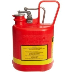14160 by JUSTRITE - Gas Can, Safety, 1 Gallon, Plastic