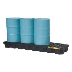 28631 by JUSTRITE - 4 Drum In-Line Spill Control Pallet