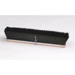"""213 by LAITNER BRUSH PRODUCTS - Indoor/Outdoor Push Broom Head Only, 18"""" Wide Wood Block, with 3"""" Medium Synthetic Bristles"""
