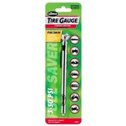 22012 by SLIME TIRE SEALER - Pencil Tire Gauge, 5 to 50 PSI, Carded