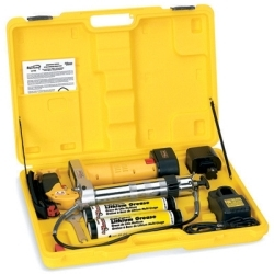 LX-1163 by AIRGAS SAFETY - Cordless Grease Gun, with Two 12 Volt Batteries, Patented Microchip Trigger to Control Output, Case