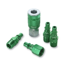 "A71456B by LEGACY MFG. CO. - ColorConnex« Type B 5-pc 1/4"" Green Coupler & Plug Kit"