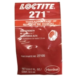 27105 by LOCTITE CORPORATION - Threadlocker 271 Heavy Duty Red
